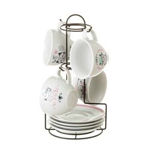 Sada 4 porcelánových šálků Unimasa Boho, 160ml