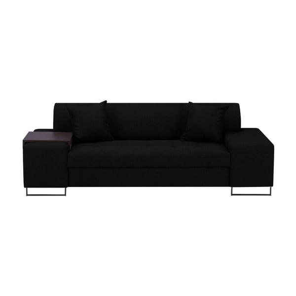 Černá trojmístná pohovka s nohami v černé barvě Cosmopolitan Design Orlando