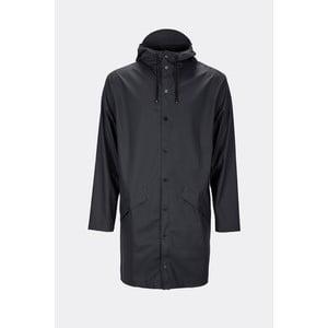 Černá unisex bunda s vysokou voděodolností Rains Long Jacket, velikost XXS/XS