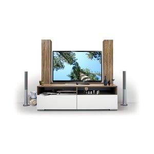 Televizní sestava Deco, bílá/samba