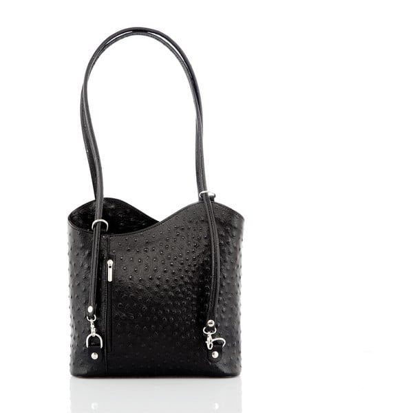 Černá kožená kabelka Glorious Black Patty