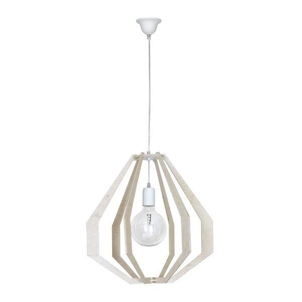 Bílé stropní svítidlo s dřevěnými detaily Glimte Jura Geo Natural White Bryla Uno
