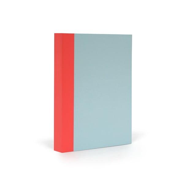 Zápisník FANTASTICPAPER A6 Skyblue/Warm Red, řádkovaný