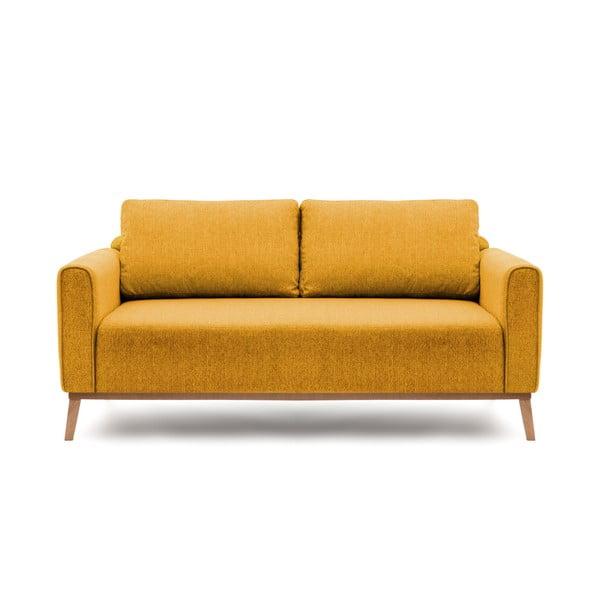 Canapea pentru 3 persoane Vivonita Milton, galben muștar
