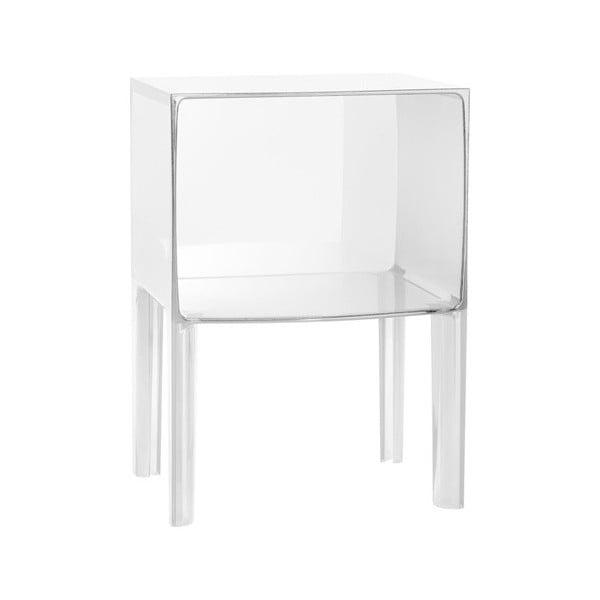 Noční stolek Kartell Ghost Buster Small Crystal