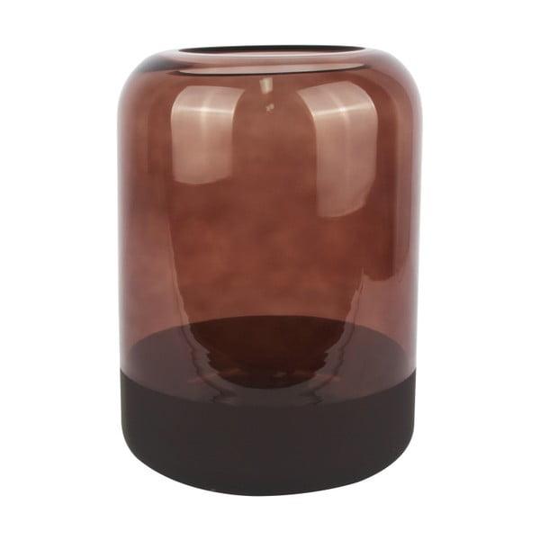 Vază din sticlă PT LIVING Majestic, înălțime 22 cm, maro