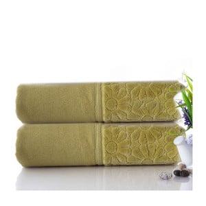 Sada 2 ručníků Samba Green, 50x90 cm