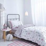 Šedo-růžové povlečení Bianca Nordic Cotton,135x200cm
