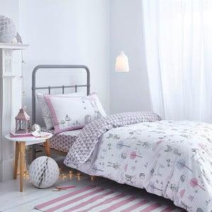 Lenjerie de pat  Bianca Nordic Cotton, 135 x 200 cm, gri-roz