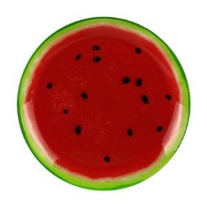 Skleněný talíř Le Studio Watermelon, ⌀ 20 cm