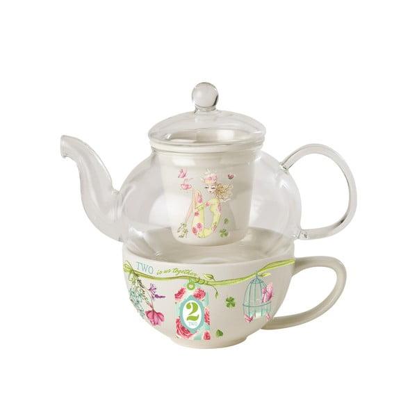 Sada konvičky, hrnku a sítka Tea for one