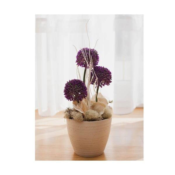 Květinová dekorace od Aranžérie, malý ozdobný česnek