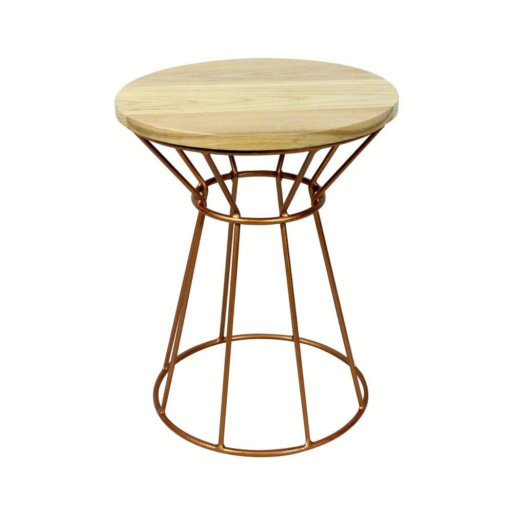 Odkládací stolek z borovicového dřeva Red Cartel Capitol Cuivre