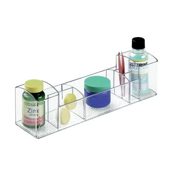 Organizator transparent iDesign Med+, lungime 30,5 cm imagine