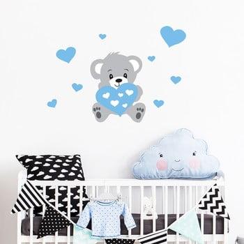 Autocolant pentru perete Ambiance Teddy Blue imagine
