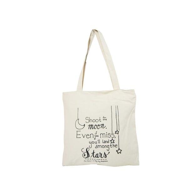 Bílá plátěná taška O My Bag Quote
