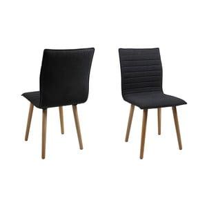 Set 2 scaune Actona Karla, gri închis