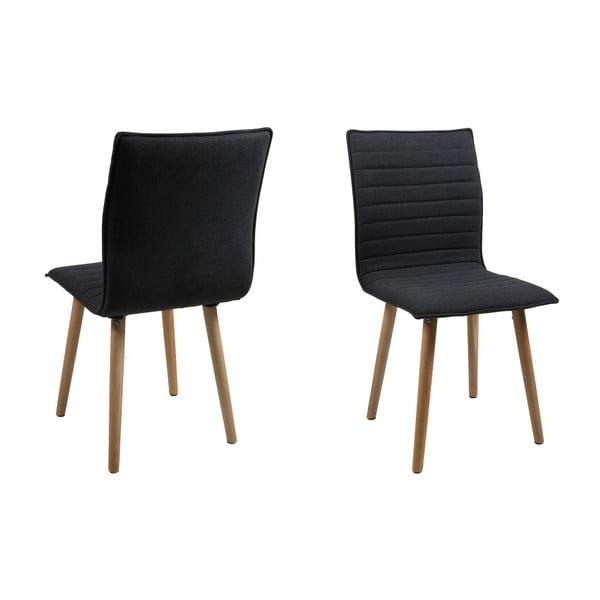 Sada 2 tmavě šedých jídelních židlí Actona Karla