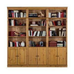 Bibliotecă din lemn de pin Støraa Annabelle, înălțime 219 cm, maro