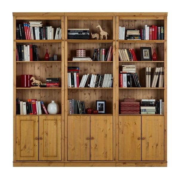 Brązowa biblioteczka z litego drewna sosnowego Støraa Annabelle, wys. 219cm