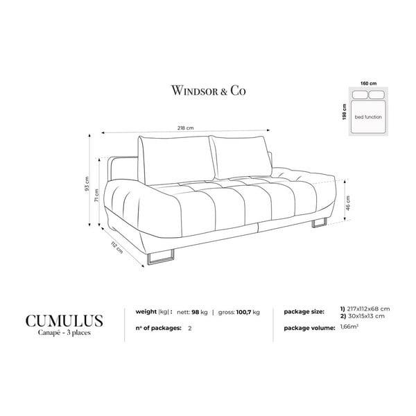 Béžová třímístná rozkládací pohovka Windsor & Co Sofas Cumulus