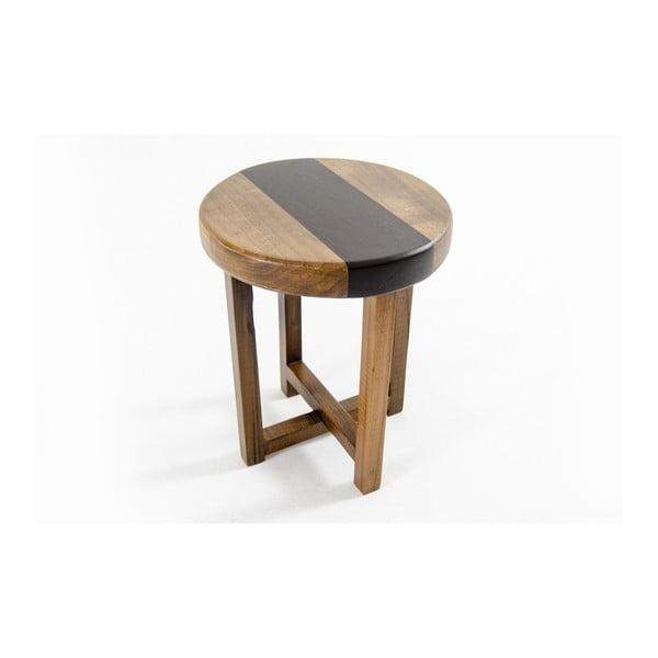 Scaun din lemn masiv de pin și nuc Jolo