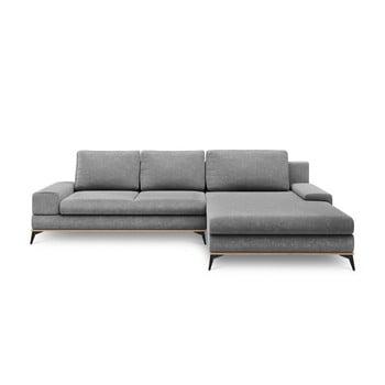 Canapea extensibilă de colț Windsor & Co Sofas Planet, pe partea dreaptă, gri de la Windsor & Co Sofas