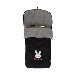 Černý zimní fusak na dětský kočárek Naf Naf Rabbit