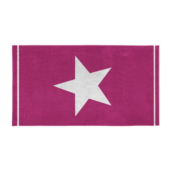 Osuška Star 100x180 cm, fuchsia