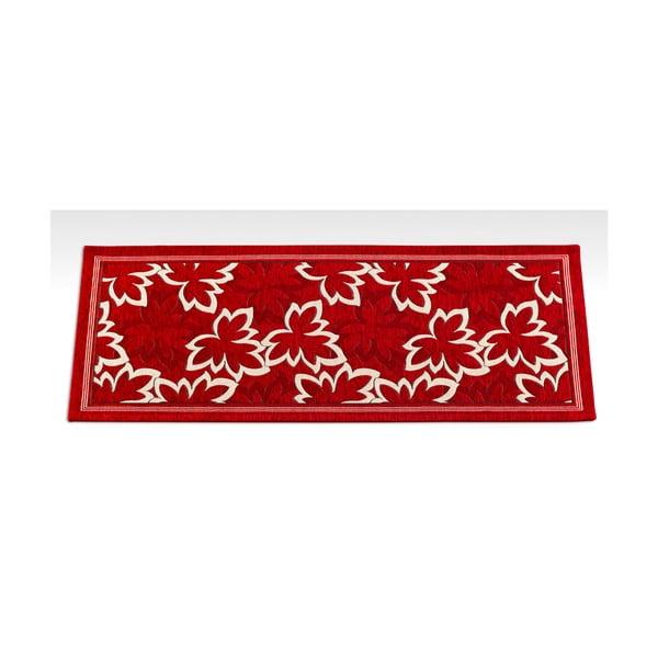Červený vysoce odolný kuchyňský běhoun Webtappeti Maple Rosso,55x140cm