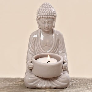 Svícen Budhha White