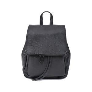 Černý kožený dámský batoh Roberta M Mussie