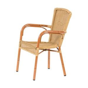 Hnědá stohovatelná zahradní židle Massive Home Brava