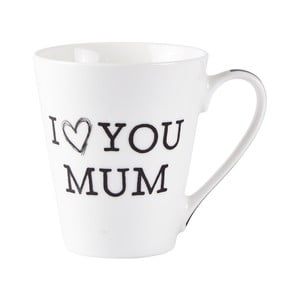 Porcelánový hrneček KJ Collection Love Mum, 300ml