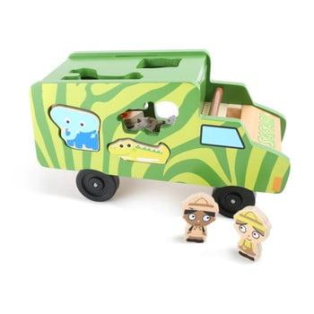 Puzzle Legler Safari Bus imagine