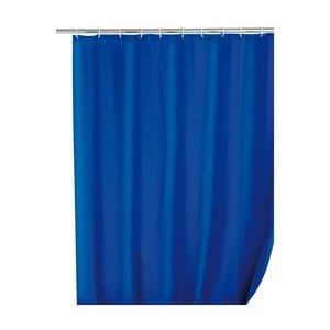 Modrý sprchový závěs Wenko Simplera, 180x200cm