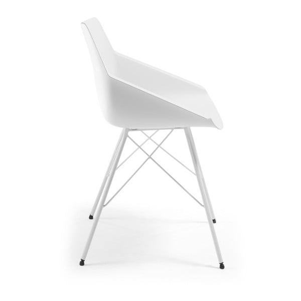 Sada 2 bílých židlí La Forma Kunn