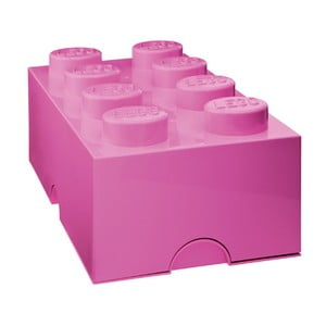Tmavě růžový úložný box LEGO®