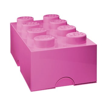 Cutie depozitare LEGO®, roz închis de la LEGO®