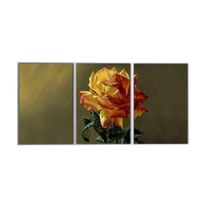 3dílný obraz Yellow Rose, 45x90 cm