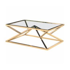 Konferenční stolek ve zlaté barvě Artelore Norma