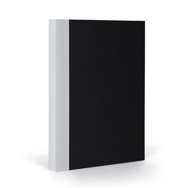 Zápisník FANTASTICPAPER A5 Black/Coolgrey, čtverečkový
