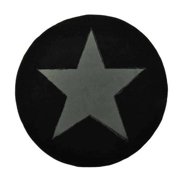 Koberec City & Mix - černá plná hvězda, 140 cm