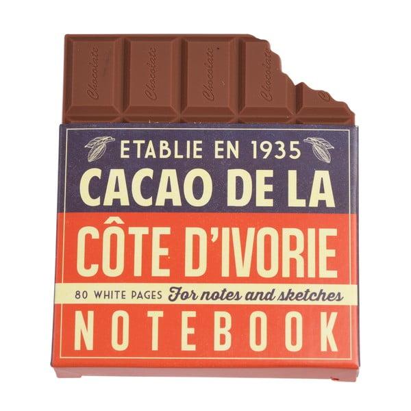 Zápisník ve tvaru tabulky čokolády Rex London Chocolate Notebook