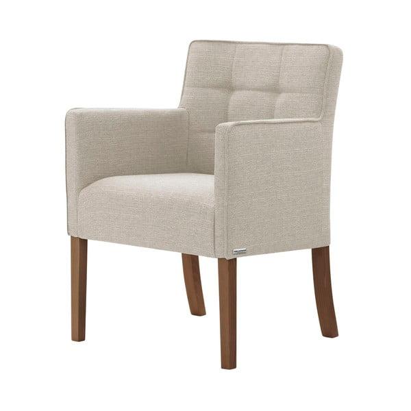 Freesia krémfehér bükkfa szék, sötétbarna lábakkal - Ted Lapidus Maison