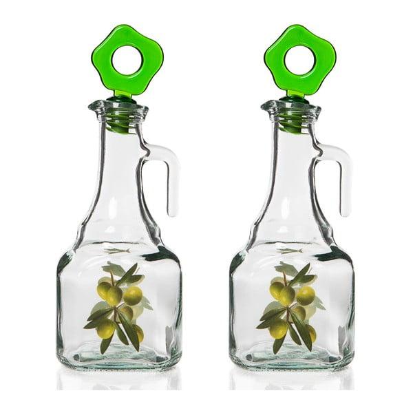 Zestaw 2 butelek na olej Bambum Herevin Transparent
