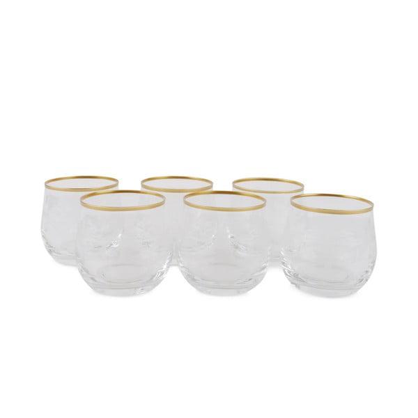 Sada 6 sklenených pohárov Filikita