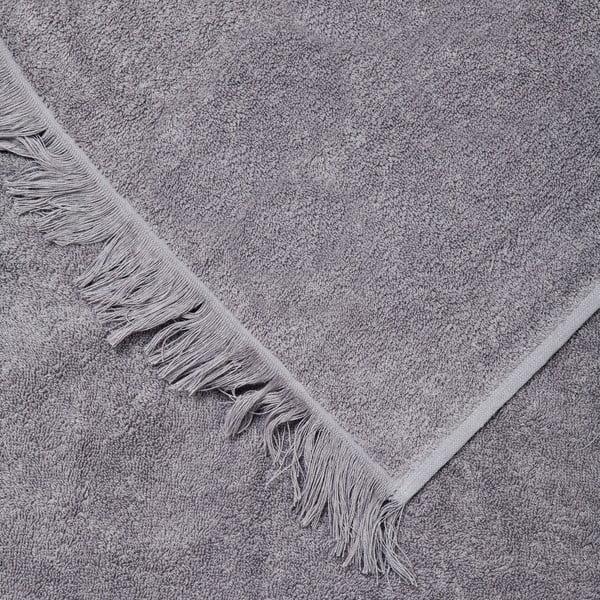 Sada 8 šedých bavlněných ručníků a osušek Casa Di Bassi Bath