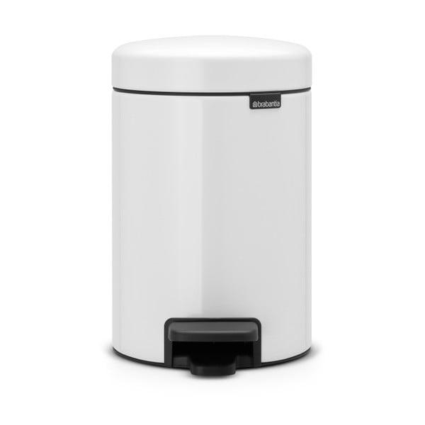 Coș de gunoi cu pedală Brabantia Newicon, 3 l, alb