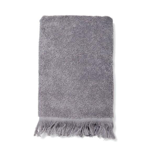 Sada 2 šedých bavlněných ručníků Casa Di Bassi Face, 50x90cm